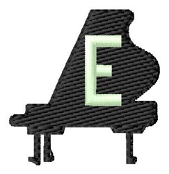 Grand Piano E embroidery design