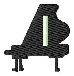 Grand Piano I embroidery design