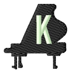 Grand Piano K embroidery design