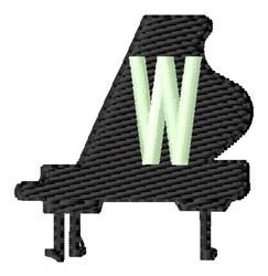 Grand Piano W embroidery design