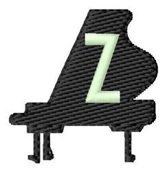 Grand Piano Z embroidery design