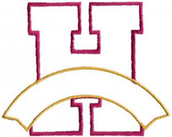 Athletic Banner H embroidery design