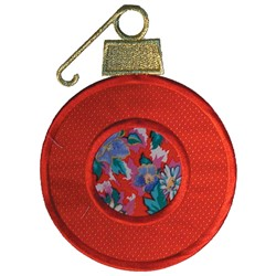 Christmas Ornament Appliqué embroidery design