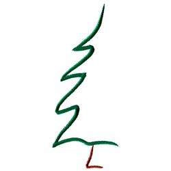 Abstract Pine Tree embroidery design