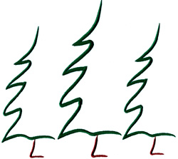 Three Abstract Trees embroidery design