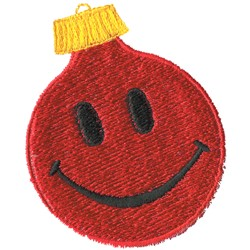 Smiley Ornament Appliqué embroidery design