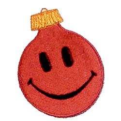 Smiley Face Ornament embroidery design