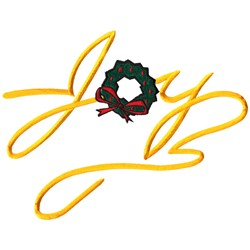 Joy and Wreath embroidery design