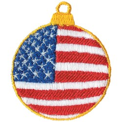 Flag Ornament embroidery design