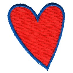 Folk Art Heart embroidery design