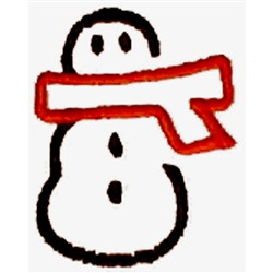 Abstract Snowman embroidery design