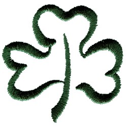 Abstract Clover embroidery design