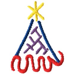 Abstract Birthday Hat embroidery design