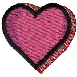 Shadowed Heart embroidery design