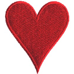 Plain Heart embroidery design
