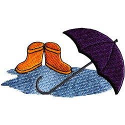 Rain Gear embroidery design