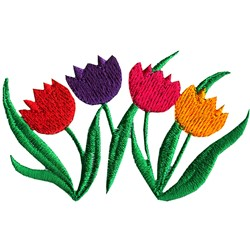 Tulip Blooms embroidery design