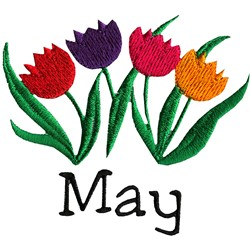 May Tulips embroidery design