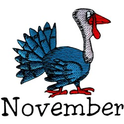 November Turkey embroidery design