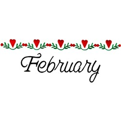 February Hearts embroidery design
