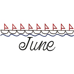 June Sailing embroidery design