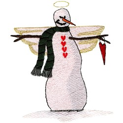 Snow Angel embroidery design