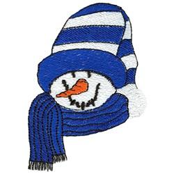 Snowman Face embroidery design