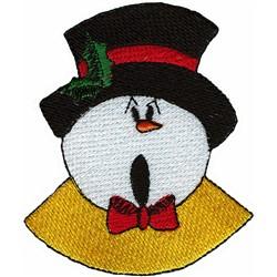 Snowman Caroler Face embroidery design