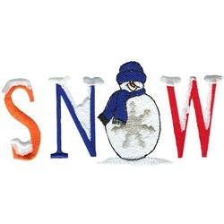 Snow Happens embroidery design