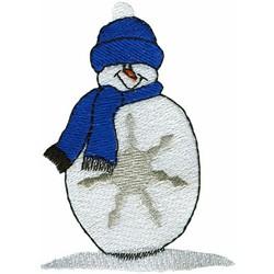 Snowflake Man embroidery design