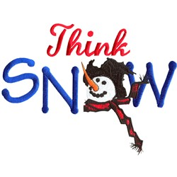 Think Snow embroidery design