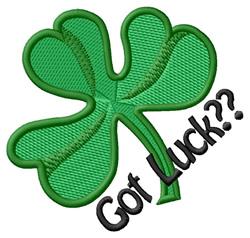 Got Luck?? embroidery design