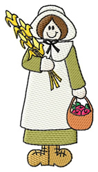 Female Pilgrim embroidery design