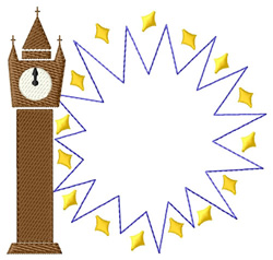 Clock Logo embroidery design