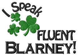 Fluent Blarney embroidery design