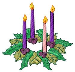 Advent Wreath embroidery design