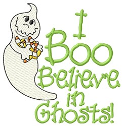 I Believe In Ghosts embroidery design