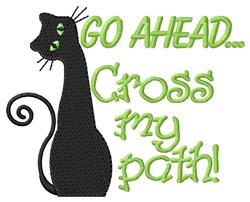 Black Cat Crossing embroidery design