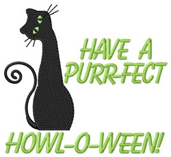 Purr-Fect Howl-o-ween embroidery design