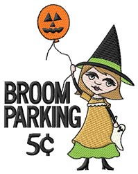 Broom Parking 5c embroidery design