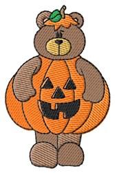 Halloween Pumpkin Teddy embroidery design