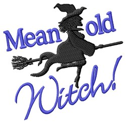 Happy Halloween Witch embroidery design