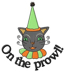 On The Prowl embroidery design