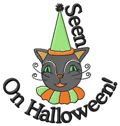 Seen On Halloween embroidery design