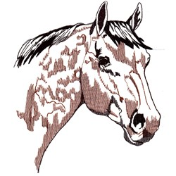 Horse Head Profile embroidery design