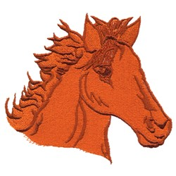 Filled Horse Head embroidery design