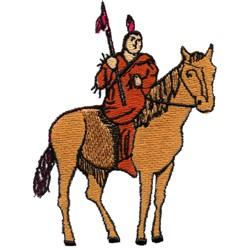 Brave Warrior embroidery design