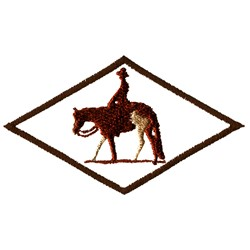 Diamond Horserider embroidery design