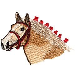 Belgian Horse Head embroidery design