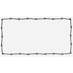 Barbed Wire Frame embroidery design